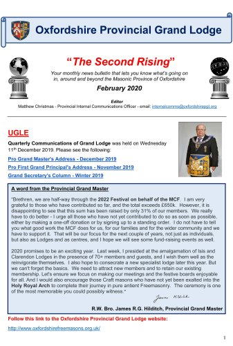 Feb 2020 The Second Rising Monthly Provincial Bulletin-1